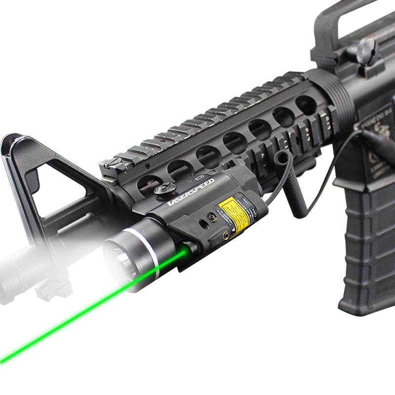 Laserspeed LS CL2 Tactical Light Strobe With Green Laser For Shooting Hunting Rifle Pistol LED Weapon