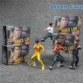 4 unids el número uno mundial de Bruce Lee Kung Fu acción PVC figuras de colección modelo juguetes 9 - 11 cm CSLC1