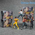 4pcs World number one Bruce Lee Kung Fu PVC Action Figures Collectible Model Toys 9-11cm CSLC1
