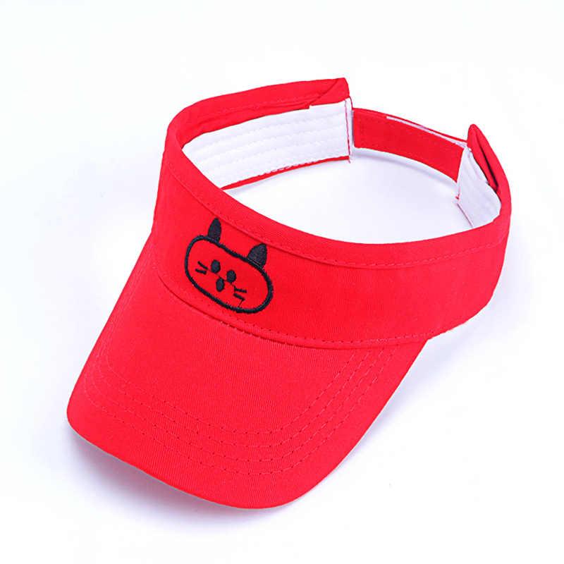 2-8yrs детская летний солнцезащитный щит Кепки мультфильм Милая Пижама «Hello Kitty», Пижамный костюм с солнцезащитная Кепка-трансформер из хлопчатобумажной ткани сине-белые красный, розовый, желтый, черный