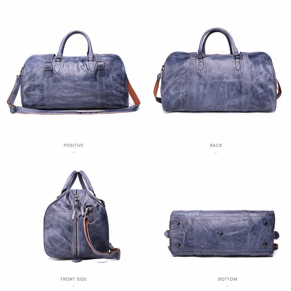 JOYIR männer Reisetasche Aus Echtem Leder Männer Seesack Gepäck Große Kapazität Koffer Tote Tasche Vintage Schulter Wochenende Handtasche-in Reisetaschen aus Gepäck & Taschen bei  Gruppe 3