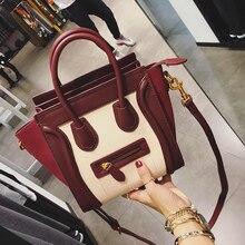 Smiley Bag Trapeze small mini messenger bags for women leather Handbag Shoulder Bag 2017 Famous Designer