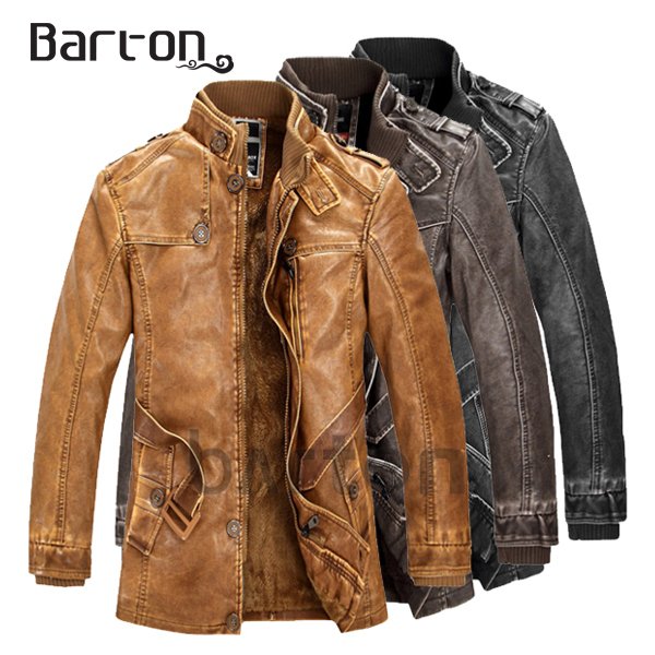 coat jacket leather Picture - More Detailed Picture about Barton ...