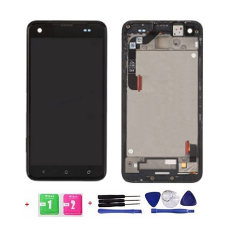 ФОТО New 100% Test LCD Touch Screen Digitizer Assembly with Front Housing For HTC Droid DNA X920 Black With Free Tools