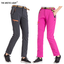 THE ARCTIC LIGHT Women Thick Fleece Softshell Winter Keep Warm Pants Hiking Windproof Outdoor Fishing Camping Skiing Trousers