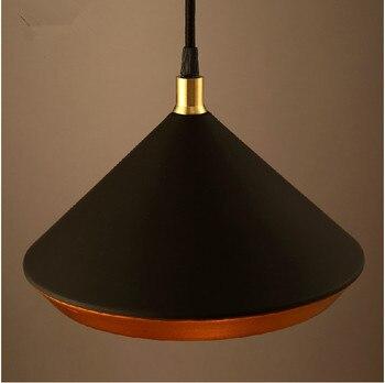 Ō�欧ミニマリストのペンダントランプクリエイティブレストランバーカフェバルコニーリビングルーム黒白い鉄のペンダント照明器具e27