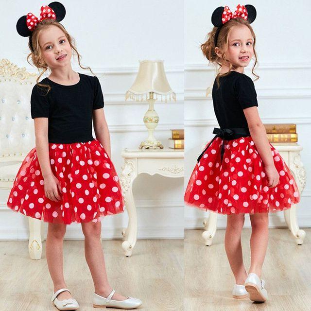 De Lujo bebé de Año Nuevo chica carnaval Santa vestido para niñas verano Minnie Mouse vacaciones fiesta para niños de los niños traje