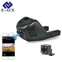 E-ACE Мини Wi-Fi Автомобильный Видеорегистратор DashCam Видеорегистратор Видеокамера 170 Градусов Широкий Угол Full HD 1080 P Двойной Объектив Камеры Reistrator