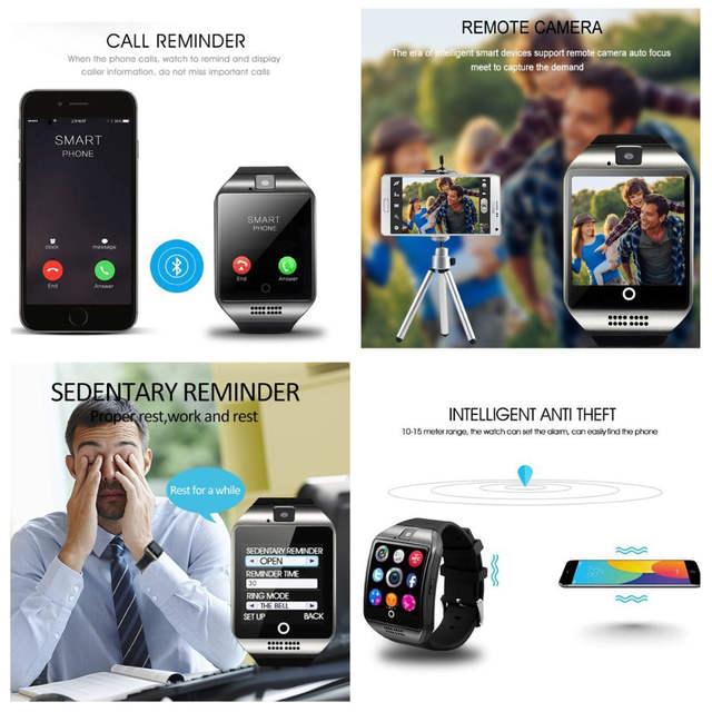 Q18 Smart Watch With Camera, Bluetooth Smartwatch Waterproof