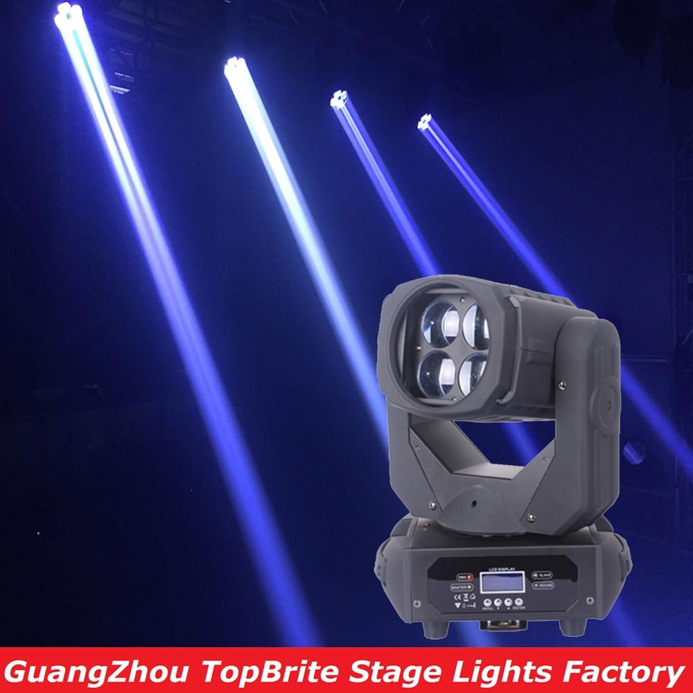 ახალი 4x25W თეთრი Led მოძრავი Head Super Beam Light ბარის ეფექტისთვის Led Stage Effect Lighting DJ Disco DMX Strobe Wash აღჭურვილობა