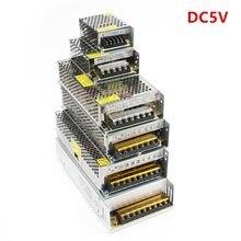 Alimentation de commutation DC5V 10W/20W/30W/50W/100W/150W AC110V 220V à DC5V adaptateur de transformateur pour bandes Led