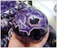 Beautiful NATURAL Dream Amethyst Crystal sphere ball Orb Gem Stone