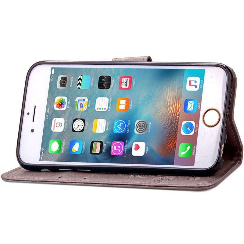 Dla iphone 7 plus 4S 5S 4 5 6 s skórzane etui z klapką case do samsung galaxy a3 a5 j3 j5 2016 j1 s6 s7 s3 s4 s5 mini grand prime pokrywa 11