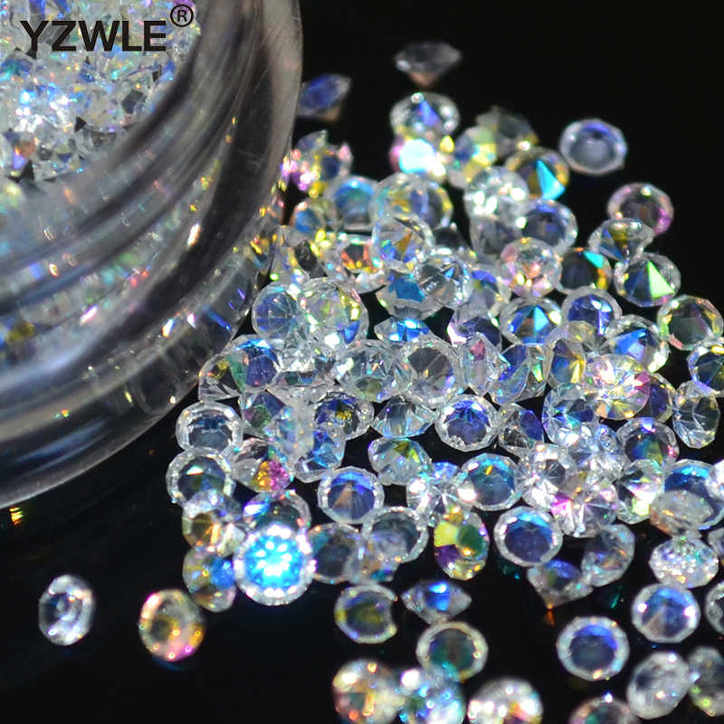 Hot selling 1 box/pack 5g 1.5mm Zircon Nail Rhinestones Nail Art Micro Rhinestones Mini Nail Rhinestones Manicure Decorations