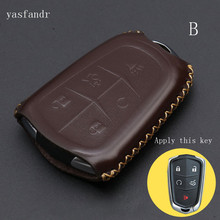 car key cover case   High Quality For Cadillac CTS XTS ATS ATS-L XLS SRX Auto Key Shell Fob Car Accessories 4 Butt car key cover case high quality for cadillac escalade atsl srx xts sls cts sts ats 4 buttons key shell cover bag