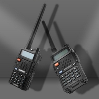 BF UV5R Walkie Talkie 1pc with Rechargeable Battery Headphone Wall Charger Long Range 128 Channels Two Way Radio