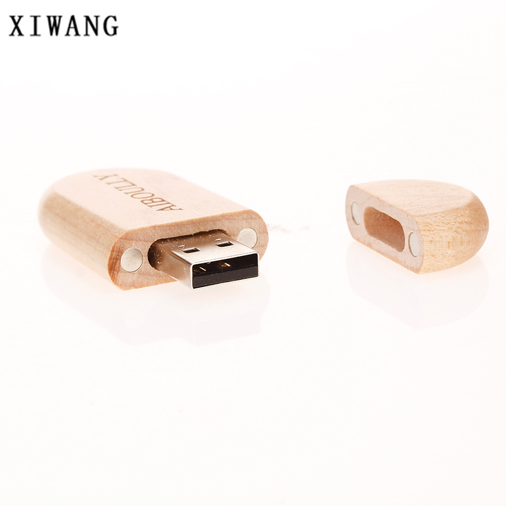 Image 2 - wooden pendrive USB flash drive usb memory stick 2.0 4GB 8GB pen drive 16GB 32GB 64GB 128gb full capacity best gift custom logo-in USB Flash Drives from Computer & Office