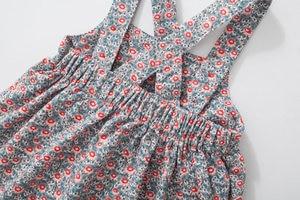 Image 4 - Robes larges en velours côtelé, extensibles, à bretelles aux épaules, robe gilet mignon, automne, pour enfants de 2 à 7 ans, nouvelle collection