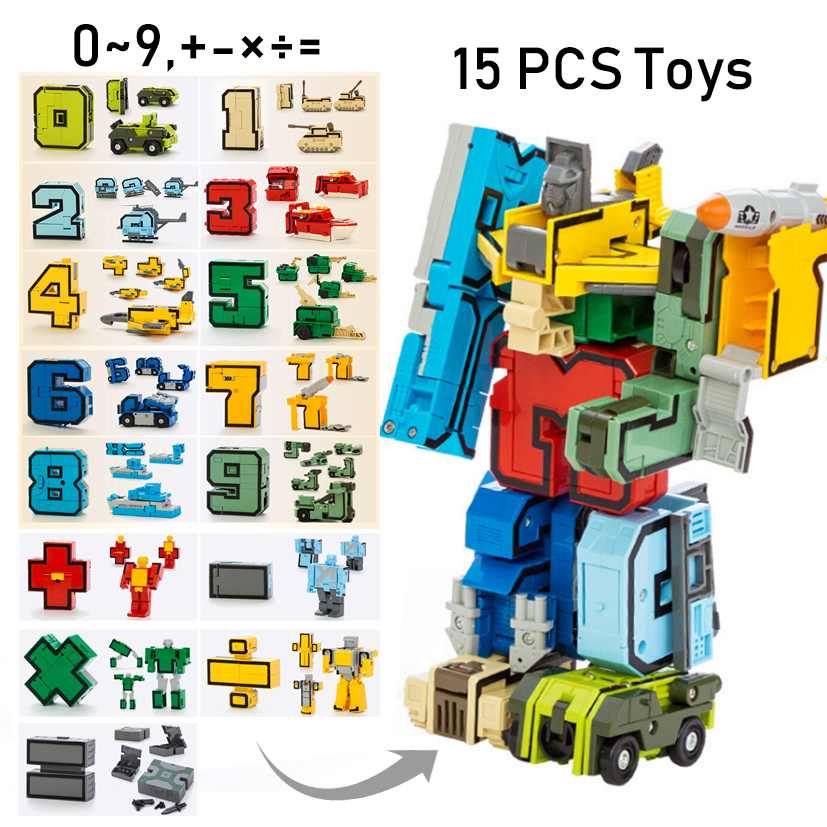 15pcs Building BlocksTransformation Robot 4