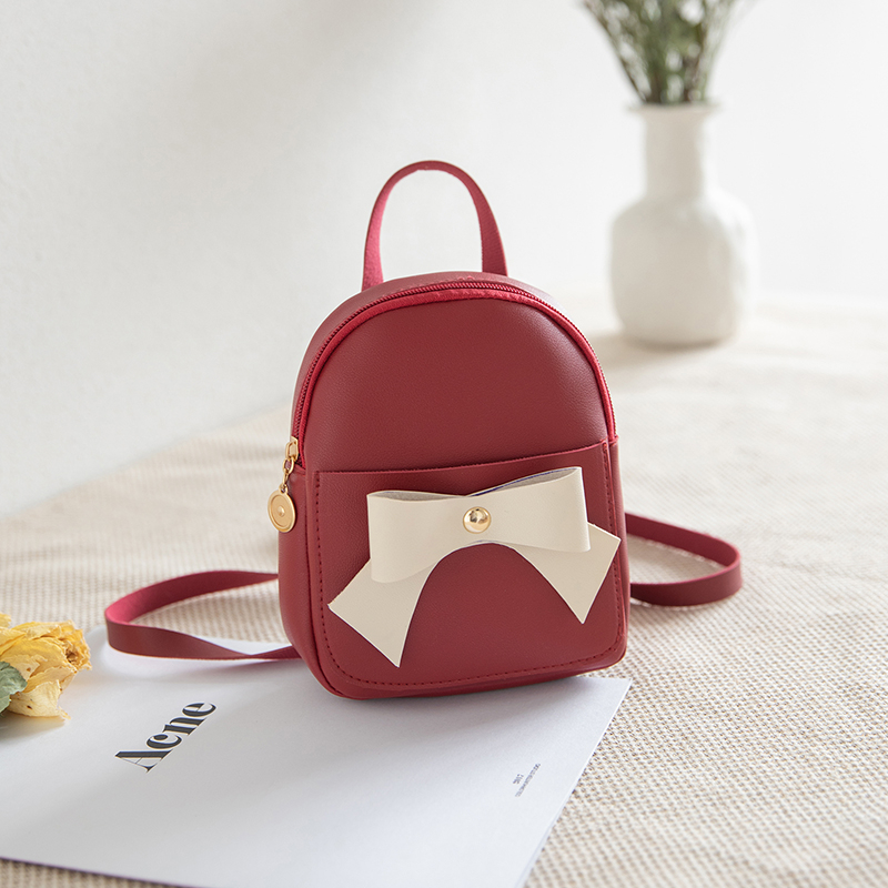 Leather Bags Women Girls Mini Faux PU Backpack Rucksack New Fashion Style Luxury Bag Bow Decoration Summer Bags Designer Bag