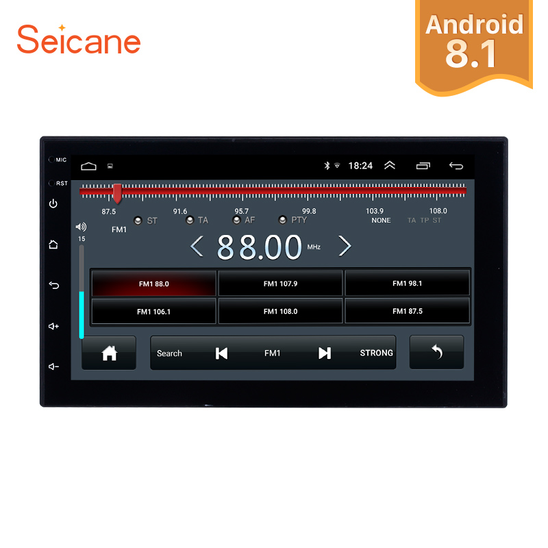 Seicane Android 8.1 7 inch Double Din Universal Car Radio GPS Multimedia Unit Player For TOYOTA Nissan Kia RAV4 Honda VW HyundaiSeicane Android 8.1 7 inch Double Din Universal Car Radio GPS Multimedia Unit Player For TOYOTA Nissan Kia RAV4 Honda VW Hyundai