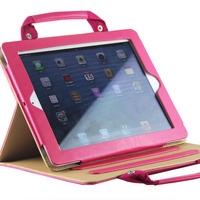 Fashion Luxury Tablet Handbags Leather Case For IPad Mini 1 2 3 Stand Cover For IPad