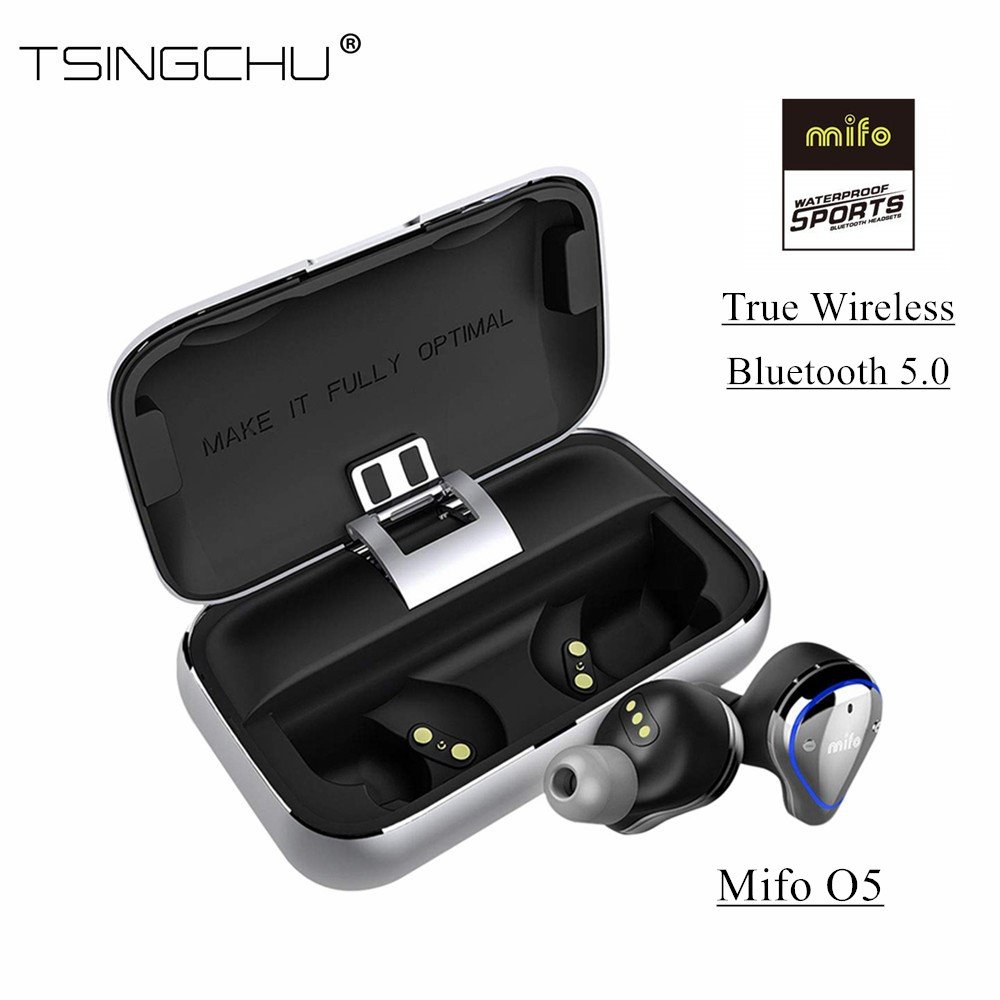 Mifo O5 True Wireless Bluetooth 5 0 In Ear Earphone With Charging Box Stereo Bass TWS