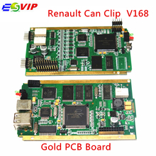 A+  Quality R–e-na-ult Can Clip  V168 with Gold PCB Board  CYPRESS AN2136SC + NEC Relaies OBD2 Diagnostic Scanner free shipping