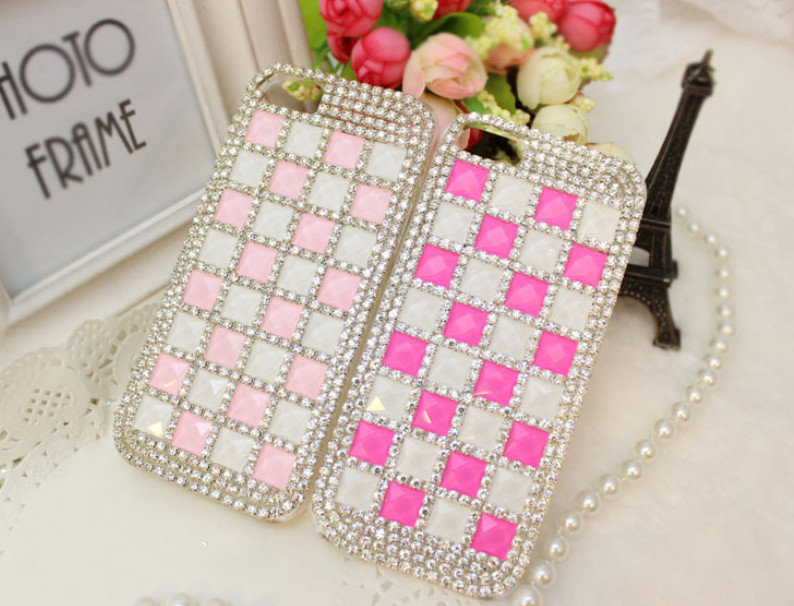 For Huawei P7 case rhinestone mobile phone cases Transparent case protective cover colorful glossy case 18