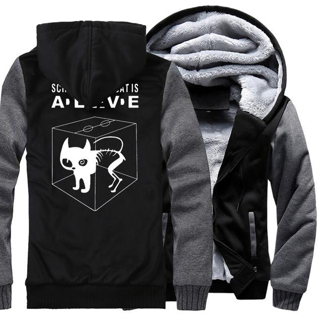Men Hoody Print Cat Sweatshirt