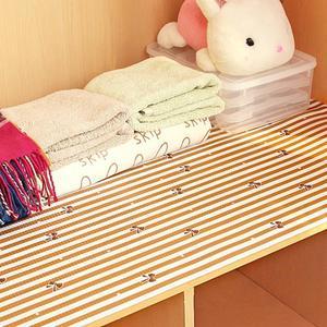 Image 2 - Waterproof kitchen antibacterial paper PET plastic placemat table wardrobe cupboard decoration rectangle drawer fridge mat