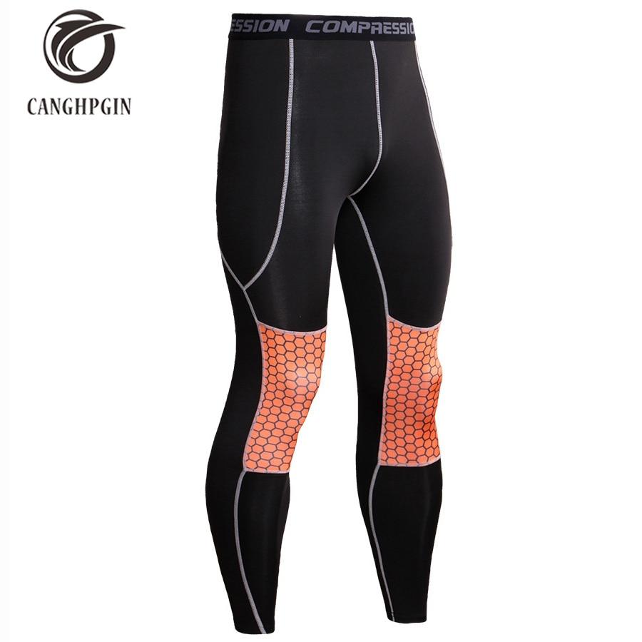CANGHPHIN Mens Bodyboulding Tights Running Compression Pants Men Jogging Fitness Skinny Leggings Yoga Long Trousers Sports Wear