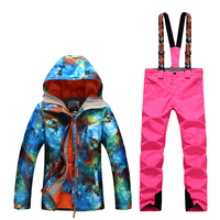 GsouSnow Winter Ladies Suits Ski Suits Outdoor Windproof Waterproof Warm Breathable Emergency Clothing Single And Double