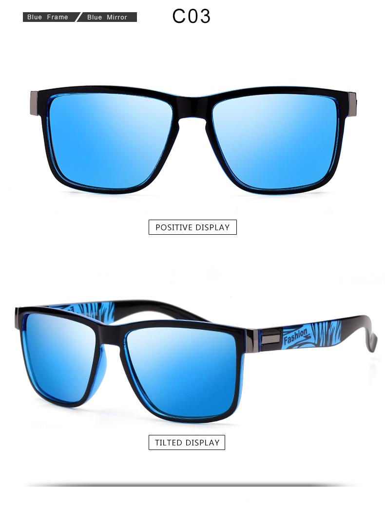 ASUOP 2019 New Men's Polarized Sunglasses UV400 Fashion Square Ladies'Glasses Classic Retro Brand Design Driving Sunglasses (4)