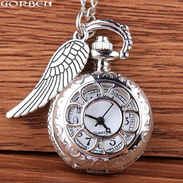 Fashion Silver Hollow Engraved Quartz Pocket Watch Pendant Swing Fob Men Watch W