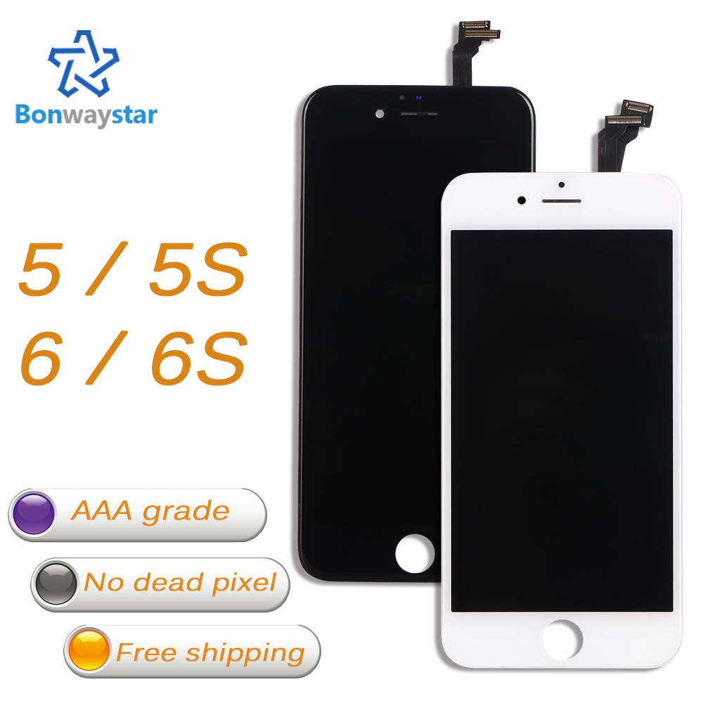 Calidad del AAA para el iPhone 5S pantalla LCD y digitalizador pantalla táctil para el iPhone 5 5C SE LCD para iPhone 6 Asamblea