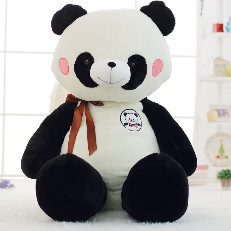 huge plush panda toy stuffed panda doll birthday gift about 150cm 110cm cute panda plush toy panda doll big size pillow birthday gift high quality