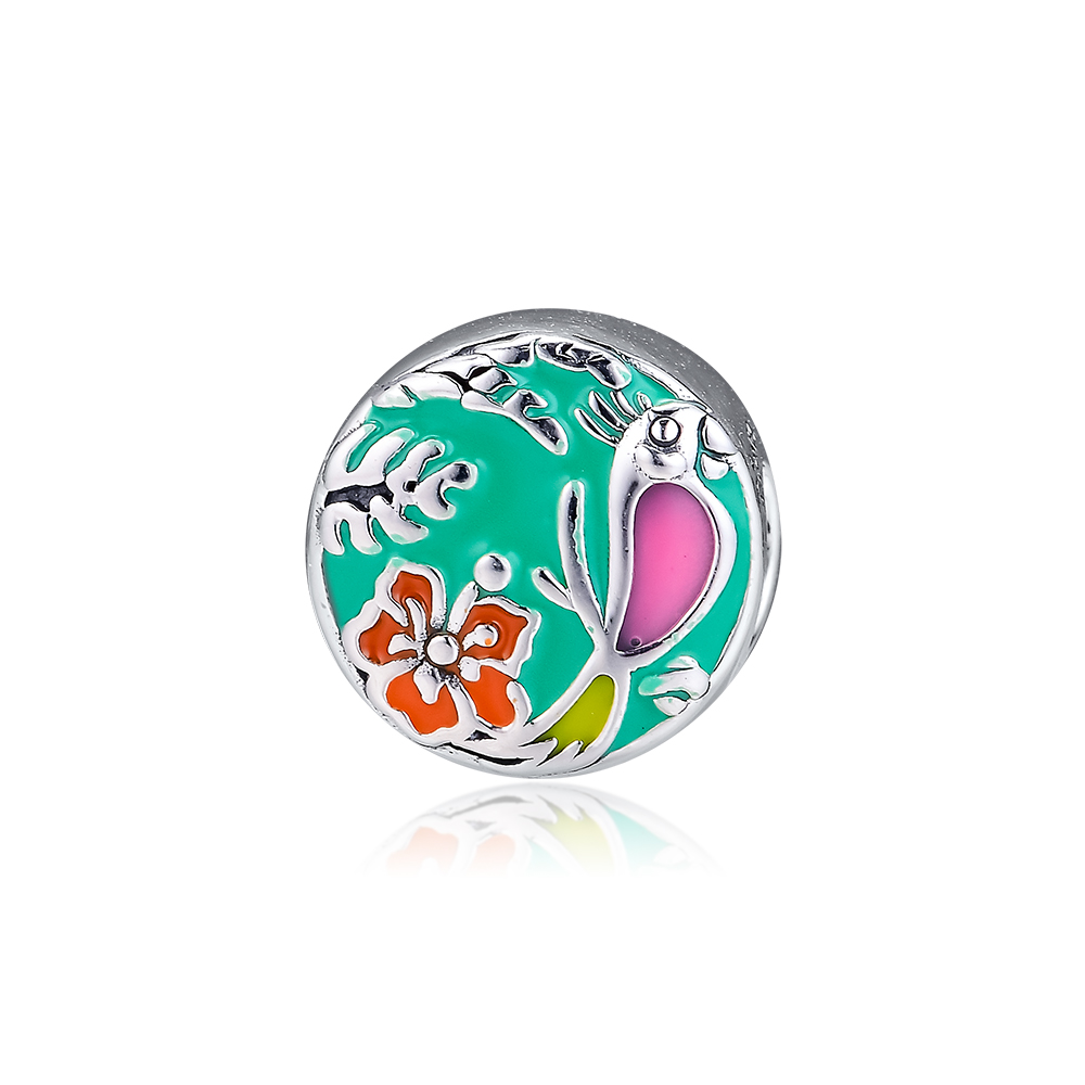 Sterling Silver 925 Jewelry Charm Enchanted Tiki Room Beads Charms Women Fits DIY Bracelet Making Accessories plata de ley 925