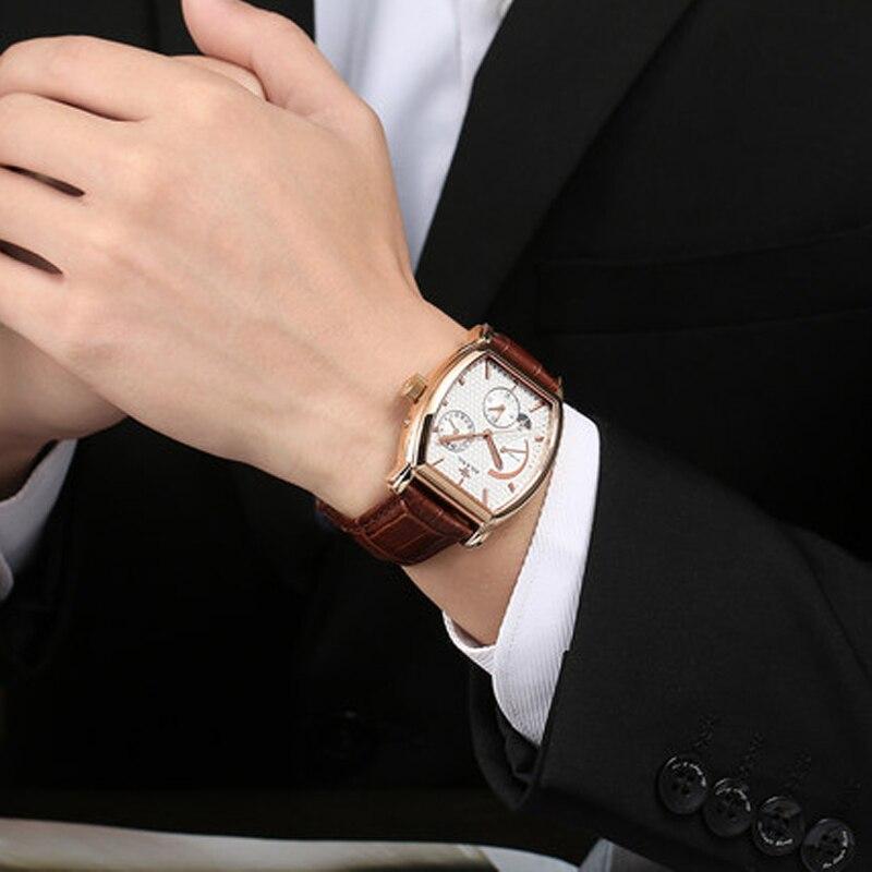 Роскошные Брендовые мужские стальные часы, мужские автоматические механические часы, многофункциональные военные спортивные часы, мужские часы - 3
