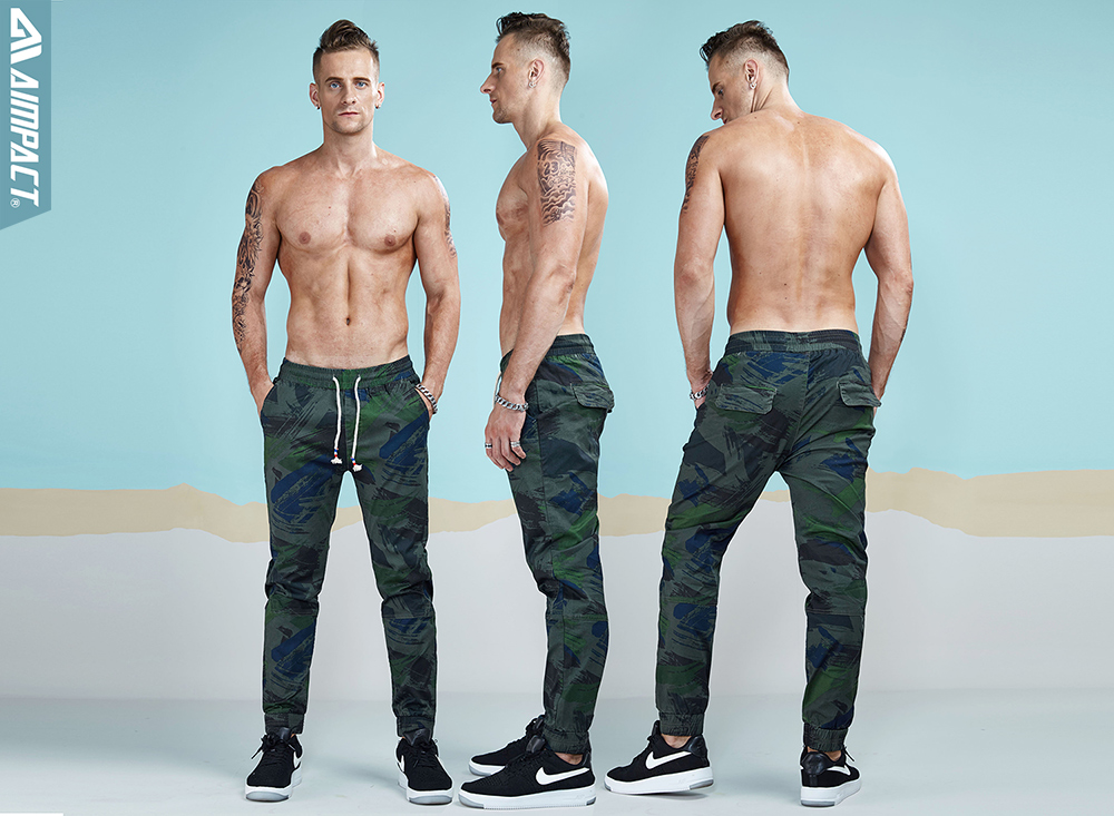 Aimpact 2018 Spring Men Casual Fashion Camo Jogger Pant Man Cotton Fitted Trace Twill Pant Male Straight Tapered Trousers AM5011 (7)