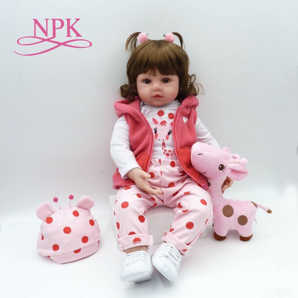 NPK 58 cm silicona Reborn Baby Dolls Boneca Reborn Realista moda muñecas para princesa niños regalo de cumpleaños-in Muñecas from Juguetes y pasatiempos    1