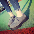 Women Brogue Shoes Lace up Flat Platform Shoes Thick Bottom Oxfords For Women Shoes Round Toe Woman Flat