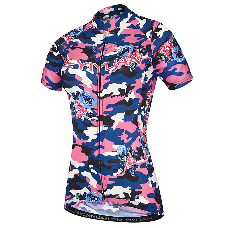 KEYIYUAN Team Women Outdoor Ropa Ciclismo Cycling Jersey Breathable Girl Shirts Tops Bike Wear Bicycle Clothing