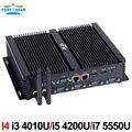Teilhaftig I4 Industrielle Mini PC mit 6 COM 2 HDMI 2 Lan Schwarz Farbe Intel i3 4005u 4010u i5 4200u i7 4500u Prozessor