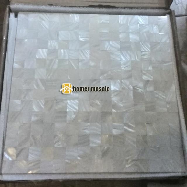 Kitchen Backsplash Mosaic Tiles, Bathroom Shower Wall Tiles Pure White  Mother Of Pearl Mosaic Mesh