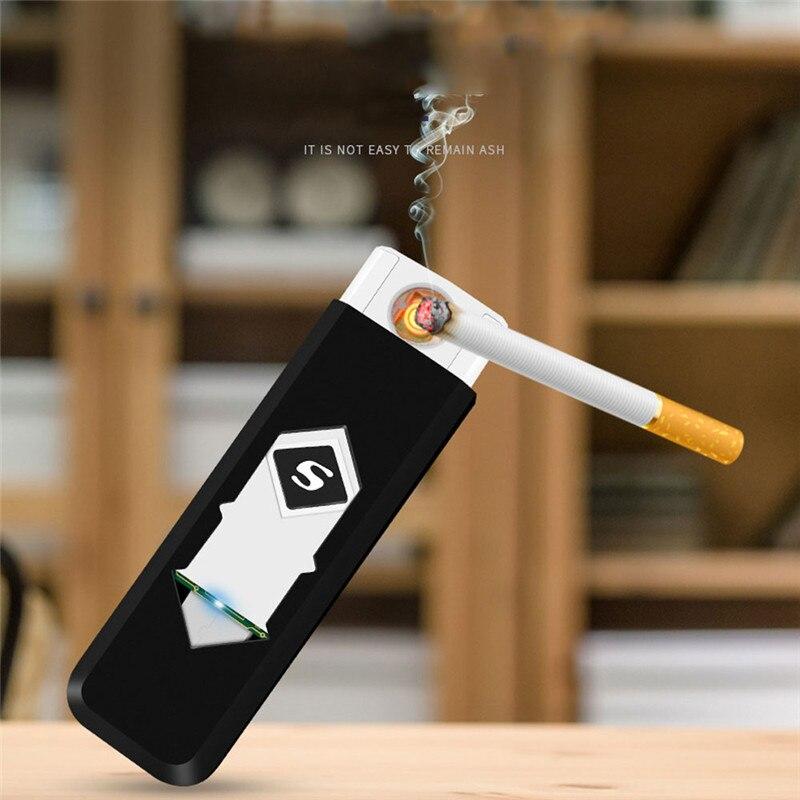 Перезаряжаемая USB ветрозащитная беспламенная электрическая зажигалка для электронной зарядки бездымные супер зажигалки для мужчин CA