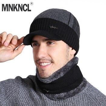 MNKNCL Unisex Skullies gorros sombrero de moda sombrero de invierno para  hombres mujeres Winter Beanie gorro de lana bufanda caliente gruesa visera  punto ... 3ab4290ca537
