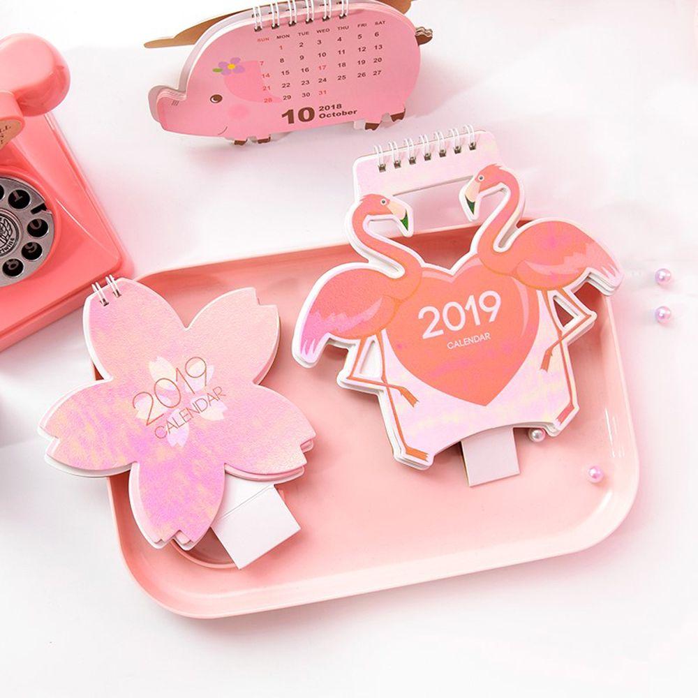 Office & School Supplies 2019 Calender Cute Flamingo Pig Kawaii Mini Table Calendar Agenda Organizer Timetable Planner List Schedule Kawaii Stationary