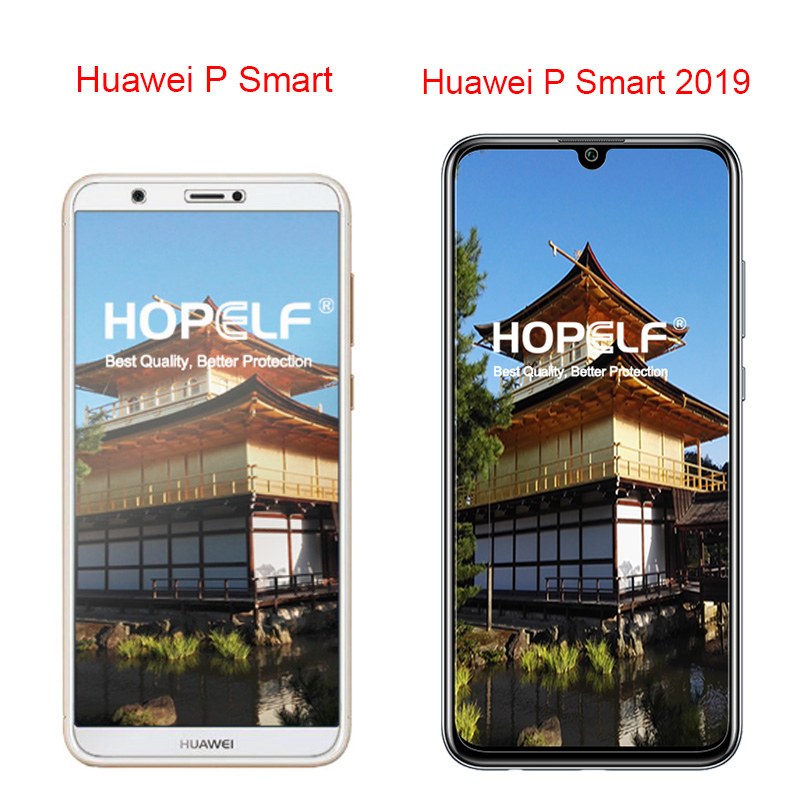 HOPELF Tempered Glass for Huawei P Smart 2019 Screen Protector on Phone Protective Safety Glass for Huawei P Smart 2019 Glass