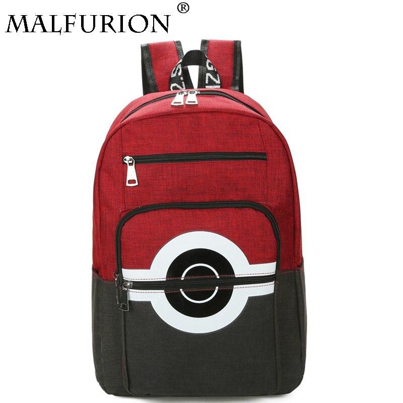 Pokemon GO Poke Ball Backpack Shoulder bag printing Schoolbag Laptop Bag